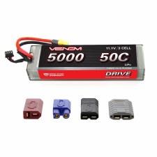 "Venom 11.1V 5000mah 3S 50C ""Hard Case"" Lipo Battery with Universal Connector"
