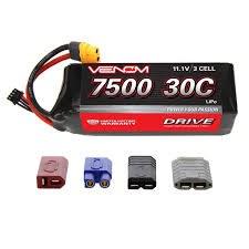 Venom 11.1V 7500mah 3S 30C Lipo Battery with Universal Connectors