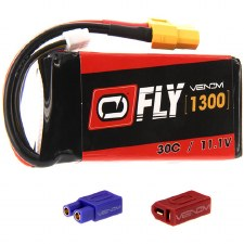 "Venom ""Fly"" 11.1V 1300mah 3S 30C Lipo Battery"