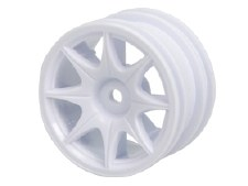 3Racing 60D 8 Spoke White Wheels for Tamiya M-Chassis