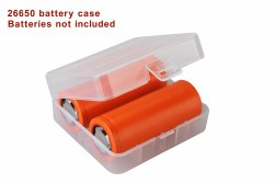 Battery Cases 26650 Clear