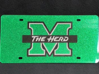 Glitter M/The Herd License Plate