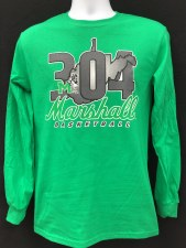304 Long Sleeve Basketball Tee Kelly- S