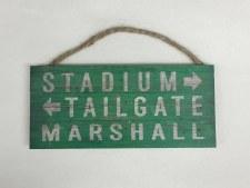 Marshall Pallet Stadium Sign