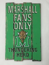 Marshall Fans Only Wall Sign