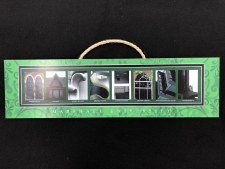 Marshall Letter Plaque
