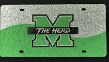 M/The Herd Glitter License Plate