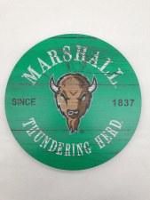 "Marshall Circle Wood Wall Mount 12"" x 12"""