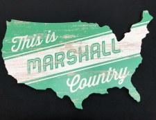 Marshall Country USA Wood Wall Mount