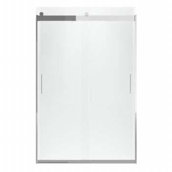 """Levity® Sliding shower door, 74"""" H x 44-5/8 - 47-5/8"""" W, with 1/4"""" thick Crystal Clear glass and blade handles"""