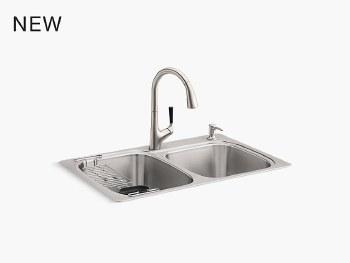 All-In-One Kit top-/under-mount kitchen sink