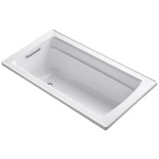 "Archer® 60"" x 32"" drop-in VibrAcoustic® bath with reversible drain"