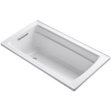"Archer®  60"" x 32"" drop-in bath with reversible drain"
