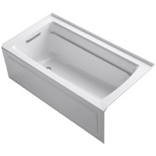 "Archer® 60"" x 30"" alcove bath with integral apron, integral flange and left-hand drain"
