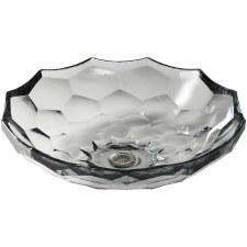Briolette™ vessel faceted glass bathroom sink