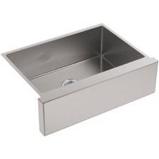 "Strive®  Self-Trimming® 29-1/2"" x 21-1/4"" x 9-5/16"" under-mount medium single-bowl kitchen sink with tall apron"
