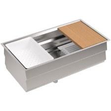 """Prolific™ 33"""" x 17-3/4"""" x 11"""" under-mount single bowl kitchen sink with accessories"""