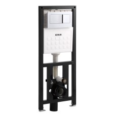 """2""""x6"""" in-wall tank and carrier system with flush actuator plate"""