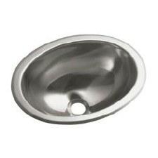 Oval Single Basin Self-Rimming/Undermount Entertainment Sink/Lavatory