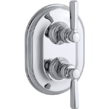 Bancroft®  Stacked valve trim with metal lever handles, requires valve