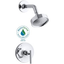 Purist® Rite-Temp® pressure-balancing shower faucet trim, valve not included