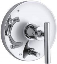 Purist® Rite-Temp® pressure-balancing valve trim with lever handles