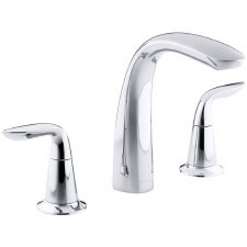 Refinia® Bath faucet trim for high-flow valve with lever handles , valve not included