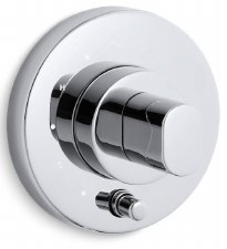 Oblo® Rite-Temp® pressure-balancing valve trim with diverter and oblong handle, valve not included