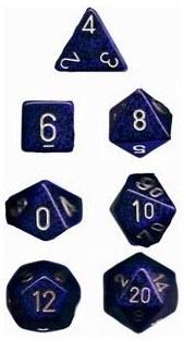 Dice CHX Cobalt Speckled 7-DieSet
