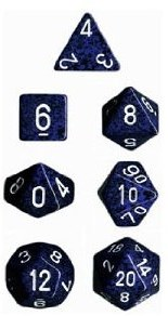 Dice Stealth Blue /White Spek7D Set