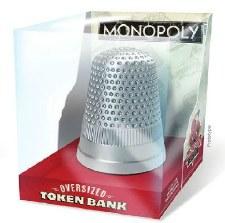 Bank: Monopoly Thimble Oversized Token Bank