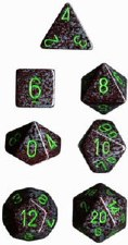 Dice CHX Earth Speckled 7-DieSet