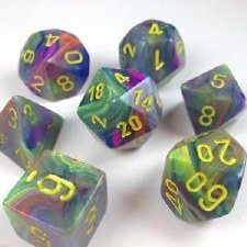 Dice Festive Rio w/ Yellow 7-Die Set