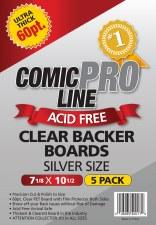 CP Clear Comic Boards - Silver