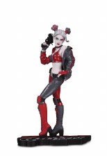 Harley Quinn Red White & Black Statue By Joshua Middleton