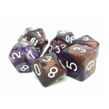 Dice Kestrels Call Copper/BlueFusion Polyhedral 16mm 7-Die