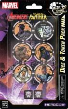 HeroClix Avenger Black Panther& Illuminatii Dice & Token Pk