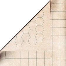 """Battlemat Reversible 1.5"""" Squares & Hexes (23.5"""" x 26"""")"""