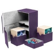 DB: Purple Twin Flip-N-Tray 160+ XenoSkin Deckbox