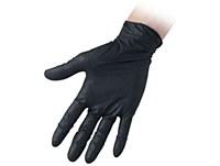 Nitrile Gloves Black MEDIUM