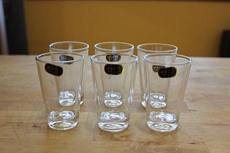 Glass tea or arak cups 6 pk