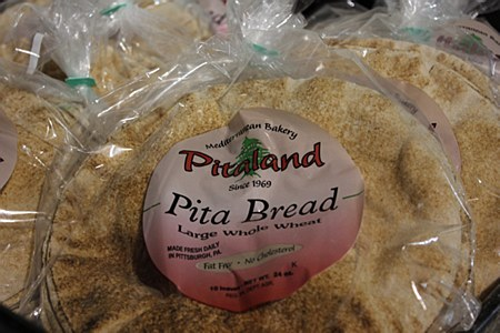 Pita Bread Large Wheat 10 Pack 10""