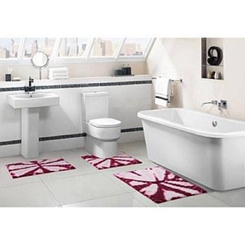 3pc Bali Tie Die Bathroom Set by VCNY Fuchsia