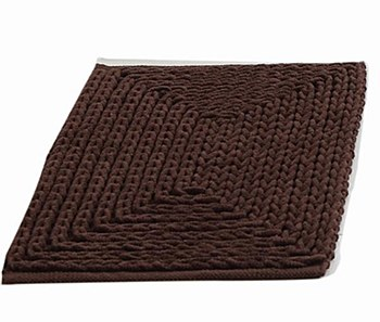 "Barron Poly/Cotton Chenille Rug 17""x24"" Brown by VCNY"