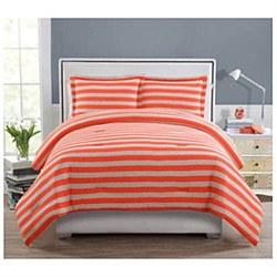 Ella 2 Piece Comforter Set, Twin / Twin XL, Orange