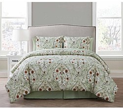VCNY Home Evangeline Floral Bed In A Bag Set With Sheet Set - Full