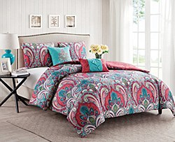 VCNY Casa Re'al Reversible Comforter Set-King Size
