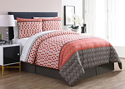 VCNY Home 8-Piece Adam Bed in a Bag Set-Coral