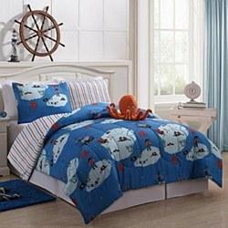 Victoria Classics Jack Reversible Comforter Set-Full Size