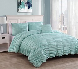 3 Piece Nikki Seafoam Mini Comforter Set Twin XL